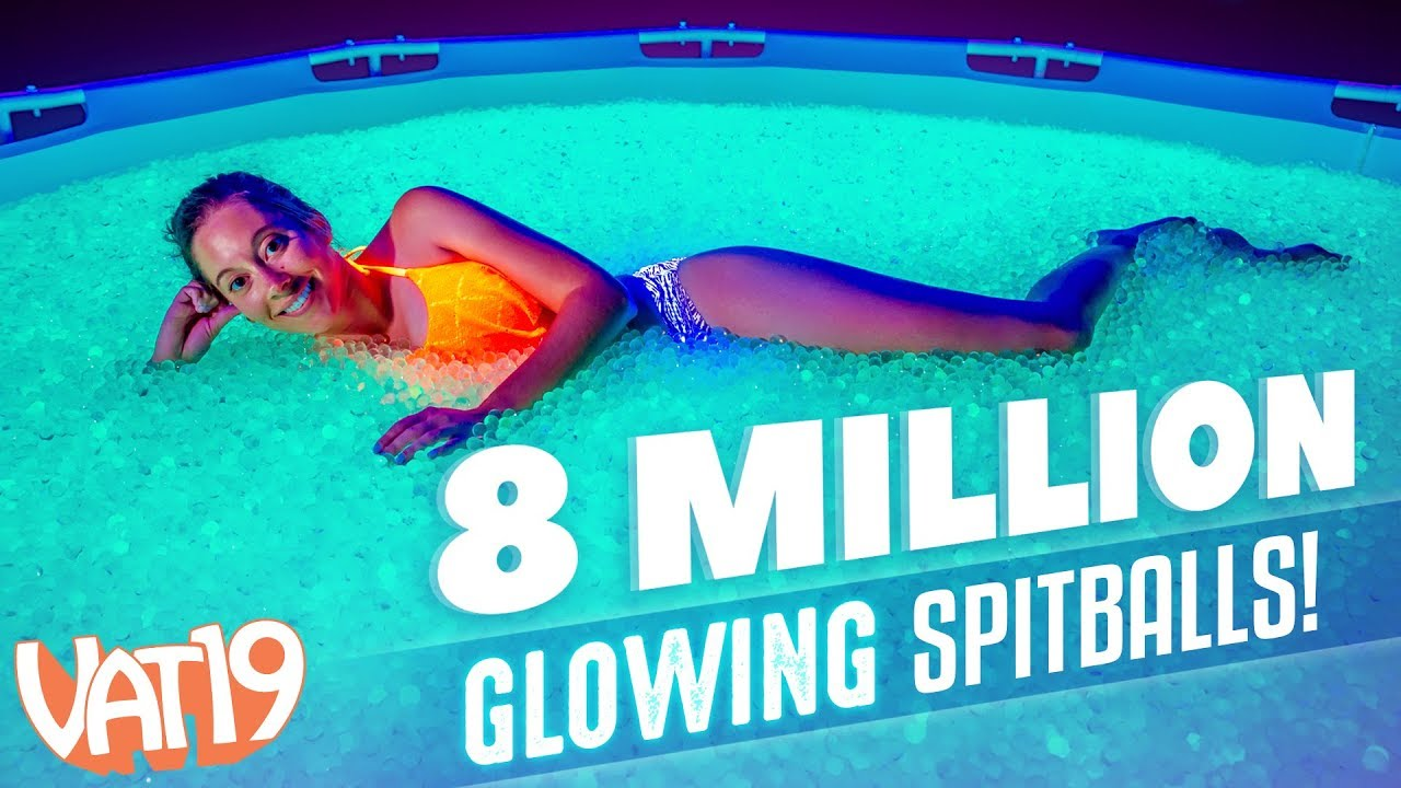 We Filled a Pool with Millions of GLOWING Orbeez Spitballs!