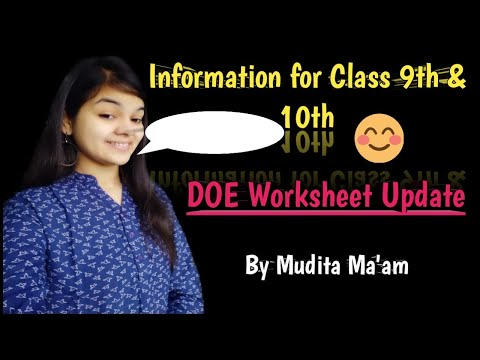 Class 9 & 10 Worksheet 49 I DOE Worksheet 49 I 23 Oct 2020 I Upcoming Worksheet 49 update