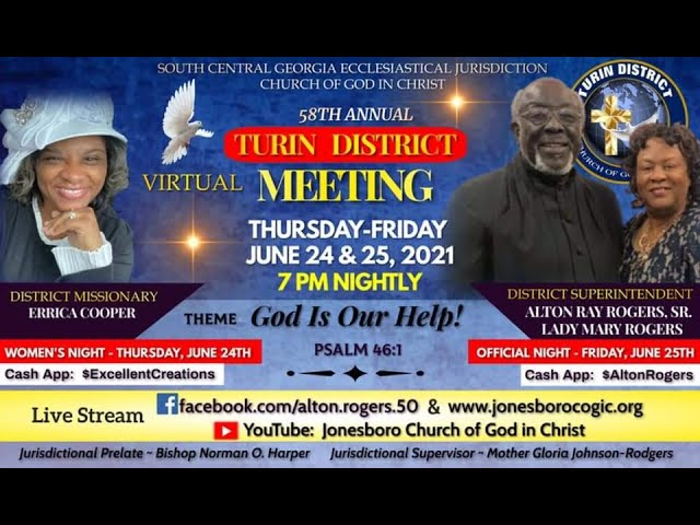 06-25-2021 - 58th Annual Turin District Meeting, Speaker: Superintendent Alton Ray Rogers, Sr.