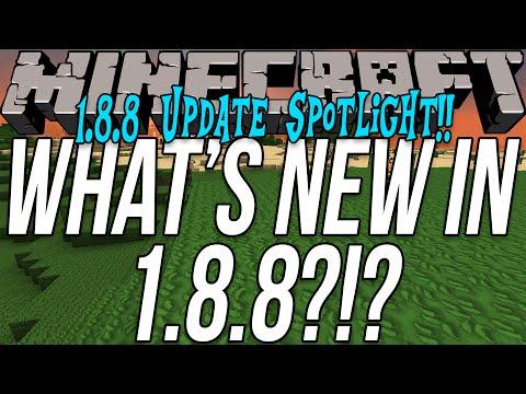 What's New In Minecraft 1.8.8?!? (Minecraft 1.8.8 Update Spotlight!!)