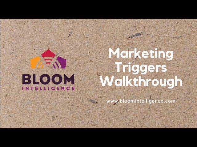 Marketing Triggers Walkthrough