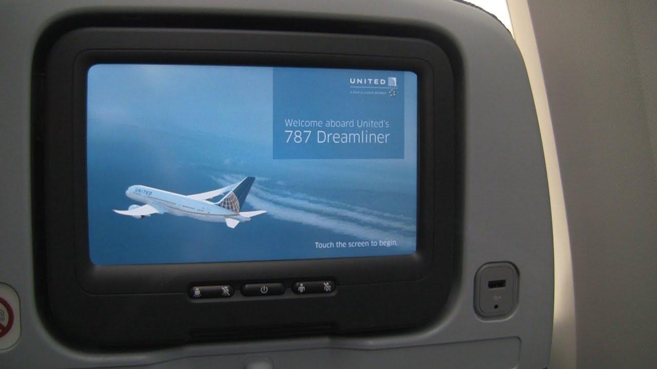 United Airlines 787 Dreamliner Economy Plus Seat 19L