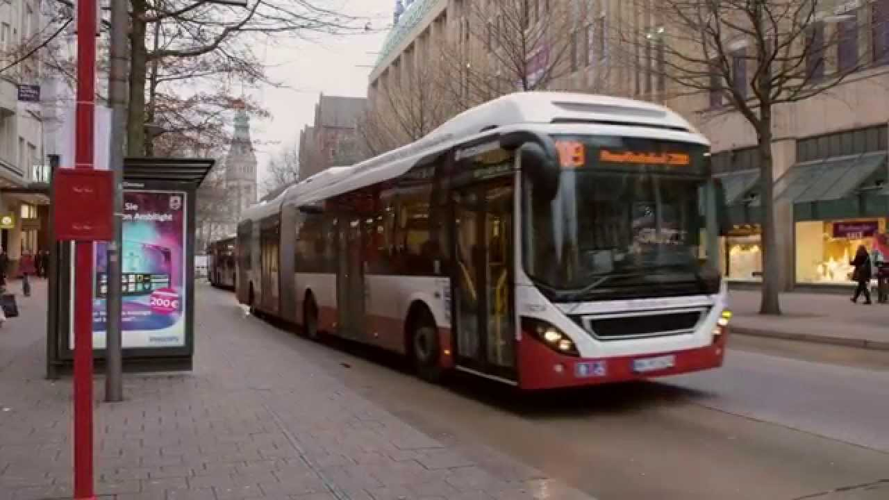 volvo plug in hybrid bus in hamburg youtube. Black Bedroom Furniture Sets. Home Design Ideas