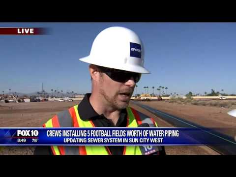 Wastewater pipe installed in Sun City West
