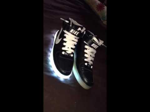 Nike Led high tops light up shoes