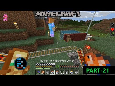 [Hindi] MINECRAFT GAMEPLAY | CREATING BIG AQUARIUM WITH LAVA AND ADDING FISH IN TO IT#21