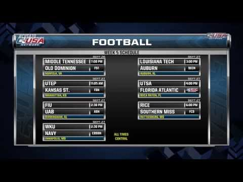 Preview of Week 5 C-USA Football Games
