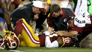 Robert Griffin III Gets Wrecked Over & Over Again, Suffers Concussion