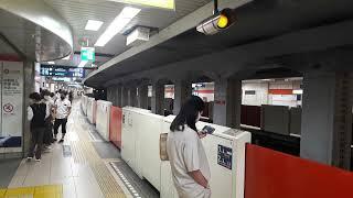 なんとなく電車:東京メトロ中野富士見町駅:丸ノ内線方南町行き三輌編成&池袋行き6輌編成到着光景20210627_125016