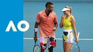 Kyrgios/Anisimova vs Adamczak/Vega Hernandez Match Highlights (1R)   Australian Open 2020