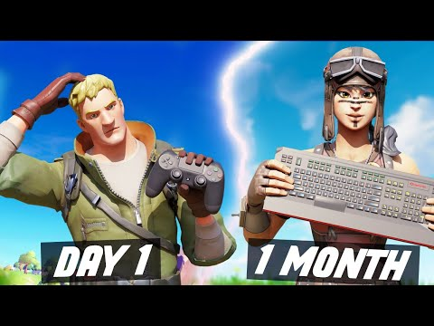 1 Month PS4 To PC Progression! Controller To Keyboard & Mouse Fortnite! (Fortnite PS4 To PC Tips)
