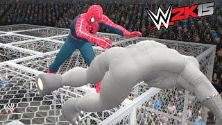 vuclip WWE 2K15 - SPIDER MAN VS RHINO - EPIC BATTLE