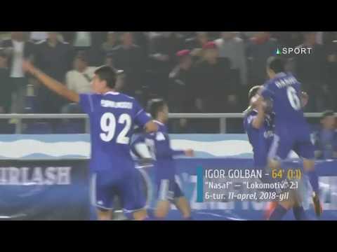 Superliga, 6-tur. Nasaf - Lokomotiv 21. Igor Golban goli (11.04.2018)