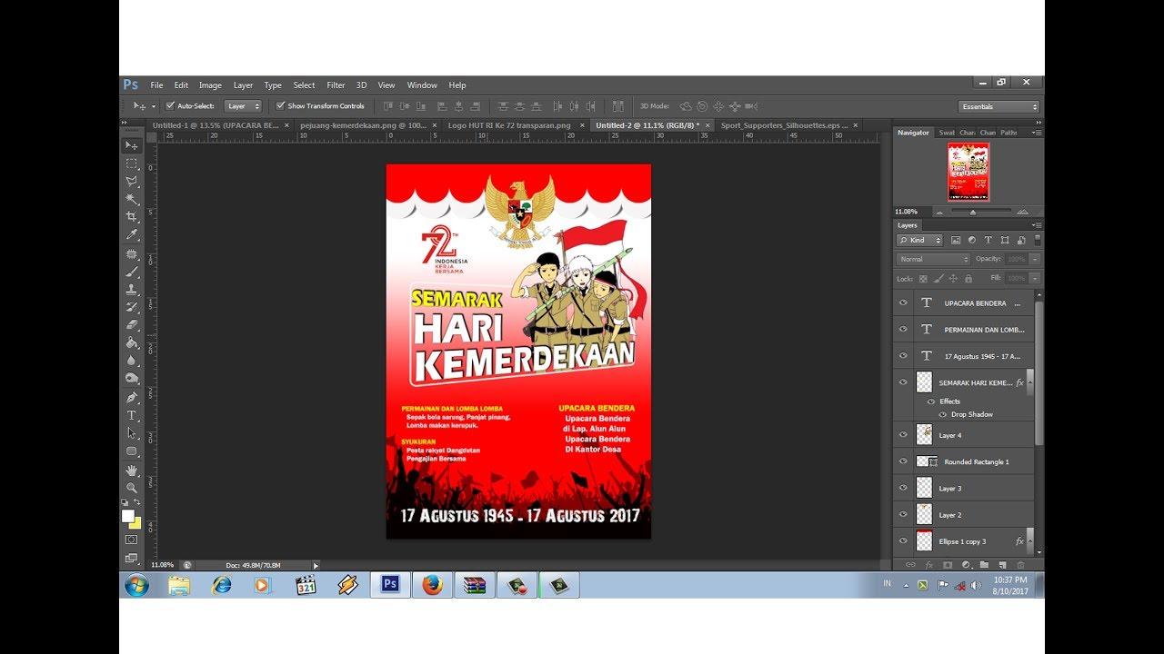 Cara Mudah Desain Poster Agustus Dengan Photoshop
