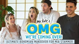 Ultimate Bohemian Living Room Design for Mia Stammer | OMG We're Coming Over | Mr. Kate