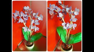 Tutorial bunga anggrek dari kertas DIY easy orchid flowers papers