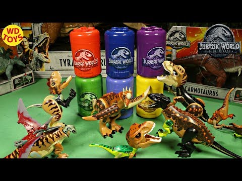 New Jurassic World Lego Fallen Kingdom Movie Exclusive Souvenir Unboxing / Hybrid Dinosaurs T-Rex VS