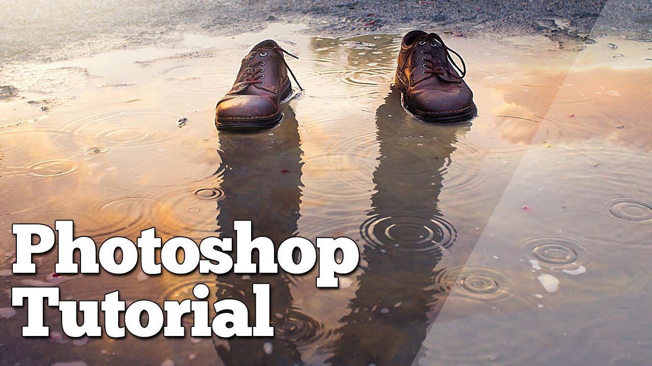 Photoshop tutorial puddle reflection youtube baditri Choice Image