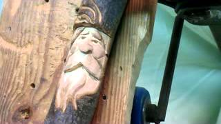 How To Carve A Wood Spirit On A Walking Stick #8