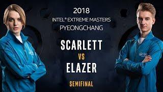 StarCraft II - Scarlett [Z] vs. Elazer [Z] - Semifinal - IEM PyeongChang [1/2]