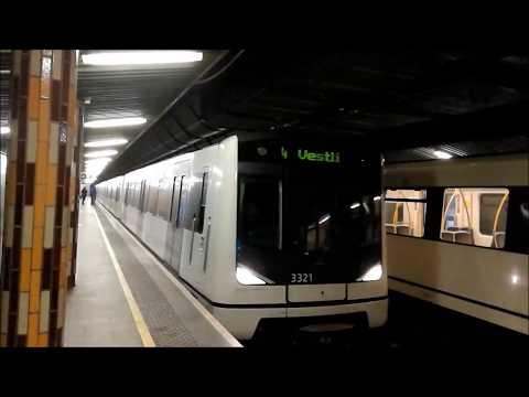 Oslo-Akershus T-bane - Linje 1,2,3,4,5 og X: Tøyen T-banestasjon SøKv-II 02-2017 [HD]