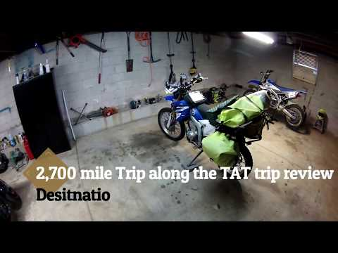 2,700 mile adenture on a 250cc motorcycle,  bike setup and review