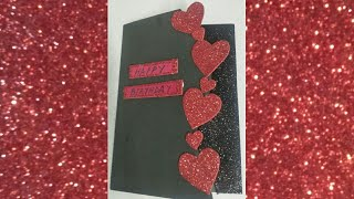 DIY Beautiful #HandMade Birthday card #PaperCraft #Birthday Greeting Cards #craft #ideas