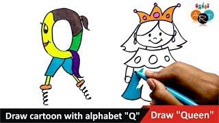Tarafından Alfabe ''S'' | Çizmek Kraliçe | ile çizilmiş Karikatür Sanat Keyfini çıkarın