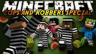 Minecraft Mini-Game : COPS N ROBBERS! (WATERMELON MASSACRE!) thumbnail