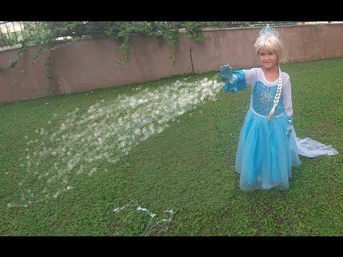 Elsa kar yapıyor ::)) , Eğlenceli çocuk videosu