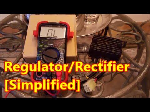 4 Wire Atv Voltage Regulator Wiring Diagram Idiot S Guide To Regulator Rectifier Test Sv650 Youtube