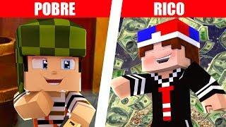 RICO VS POBRE - CHAVES VS KIKO NO MINECRAFT MACHINIMA