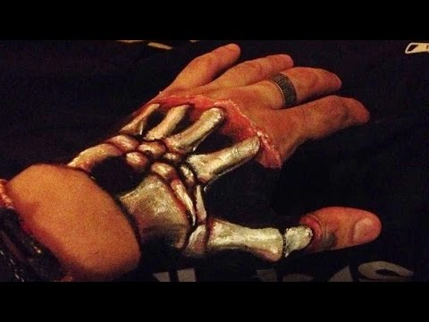 MY HAND! How i draw magic Illusion Skeleton Art