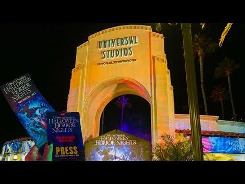 OPENING NIGHT of Halloween Horror Nights Hollywood 2018   VLOG