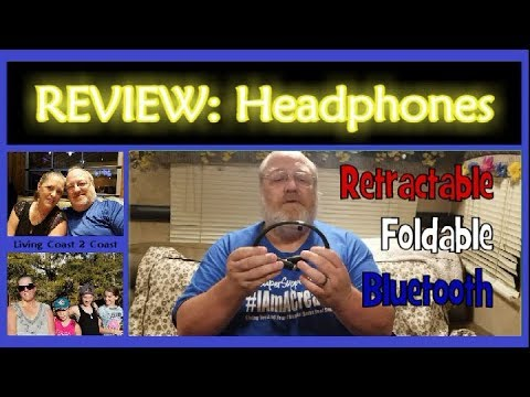 Foldable Bluetooth Headphones |:| REVIEW |:| Living Coast 2 Coast