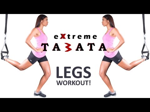 Extreme LEGS Tabata | Suspension Training | The Bow (TRX Compatible)