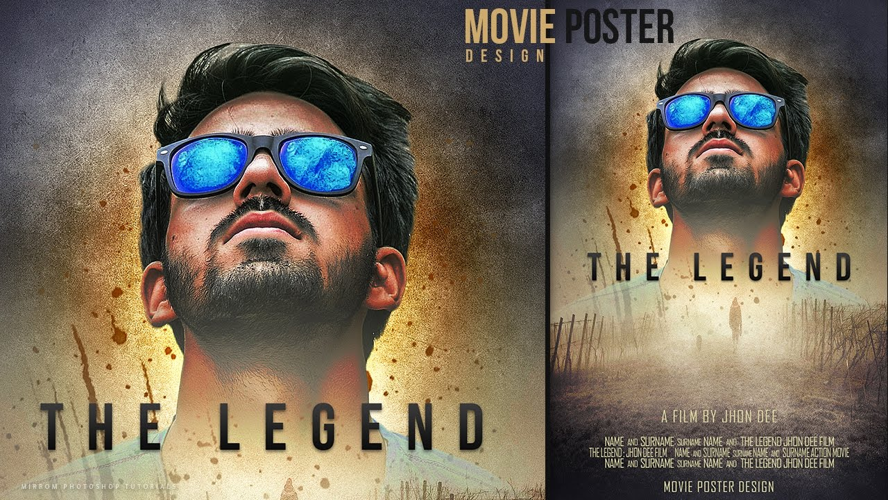 Poster design editor - Make A Movie Poster With Texture Background In Photoshop