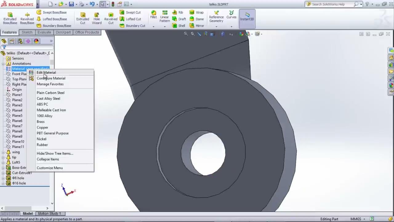 Wind Turbine Blade & Hub Design | Solidworks Tutorial