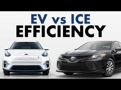 ICE vs EV Efficiency: How Much More Efficient is an Electric Vehicle than a Fossil Fuel Vehicle?