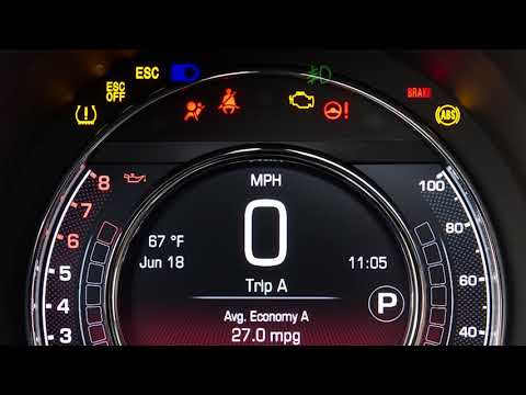 Instrument Cluster Display-Browse The Digital Dashboard On The Car Instrument Panel Of 2018 Fiat 500