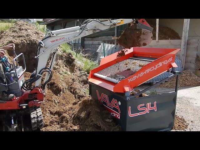 Erde sieben Rüttelsieb LS14 v. Xava Recycling / Screening Soil Vibrating Screen LS14