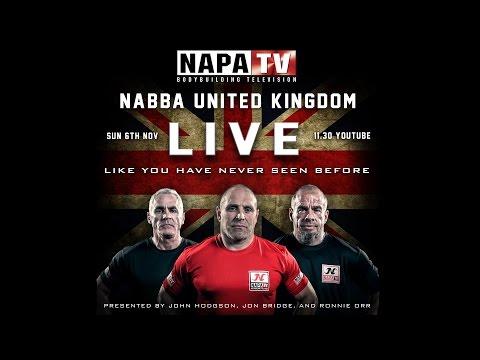 NAPA TV LIVE: NABBA United Kingdom 2016 - Part 1