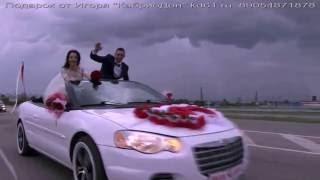 Свадебному кабриолету Крайслер, проливной дождь не по чём. Прокат кабриолетов в Ростове