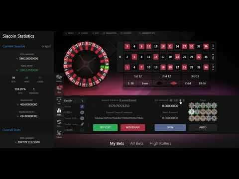 1$ por minuto en la ruleta en SIACOIN