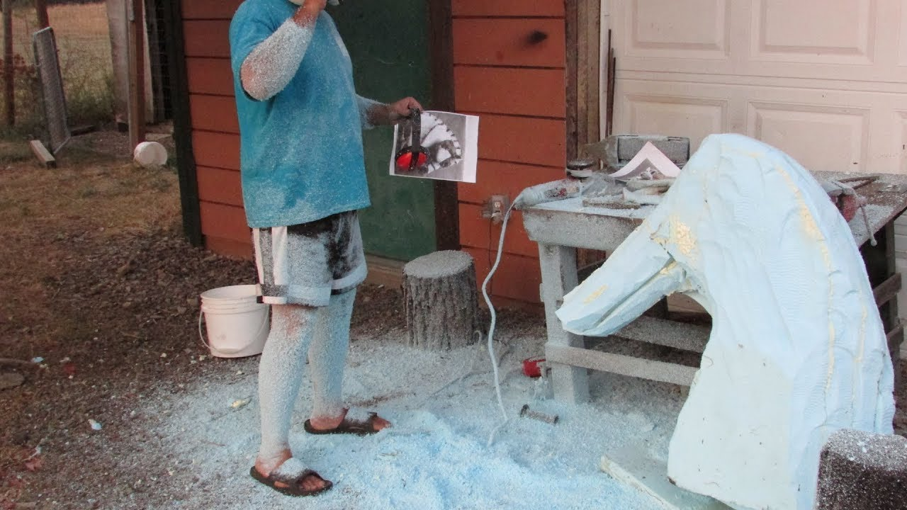 3D Sculpture: Carving a Foam Armature For a Sculpture With Power Tools 2