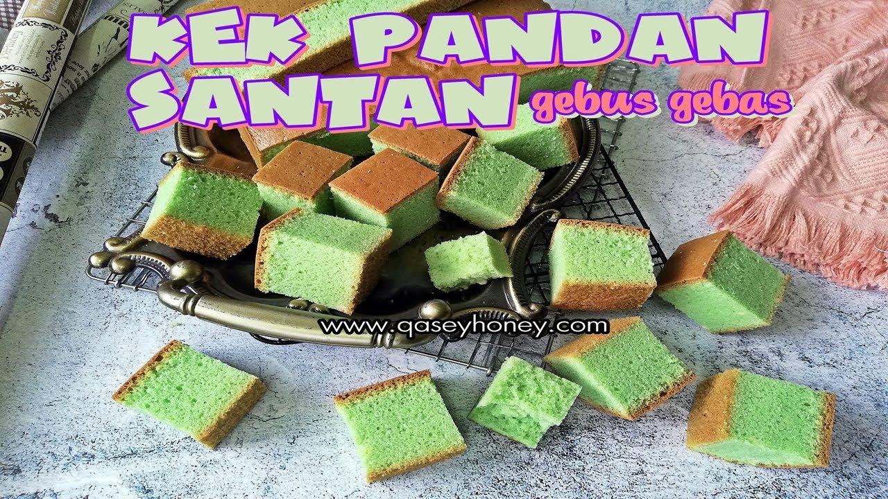 resepi kek pandan santan kukus kek span pandan santan guna sukatan cawan  belajar buat pun Resepi Kek Kukus Guna Santan Enak dan Mudah