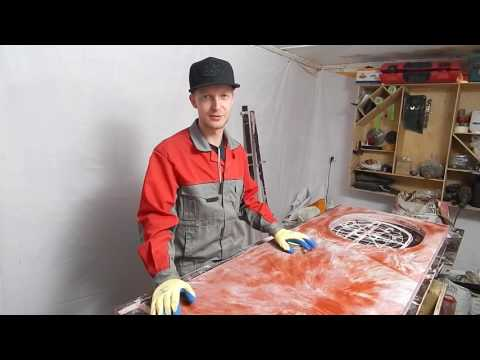 видео: Как сделать кухонную столешницу из бетона. Часть 2. concrete countertop diy.