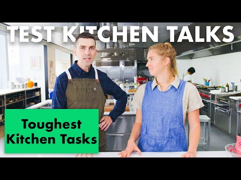 Pro Chefs Share Their Hardest Cooking Tasks | Test Kitchen Talks | Bon Apptit