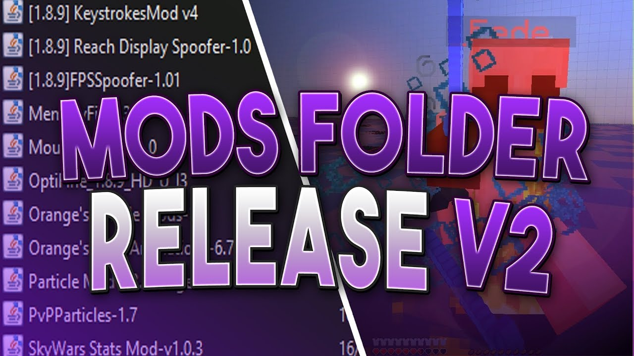 2020 Mods Folder Release For Hypixel Minecraft 1 8 9 Best Mods For Pvp Youtube