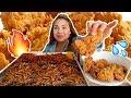 Nuclear Black Bean Noodles & KFC 먹방 Mukbang   Sticky Eating Sounds